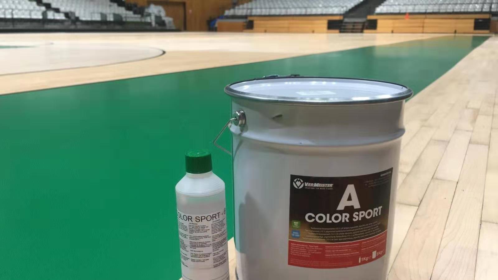 NBA賽事級別球館翻新案例---采用意大利Vermeister體育水性漆系統,國際籃聯FIBA認證